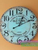 นาฬิกาแขวนสไตล์วินเทจขนาดใหญ่ รุ่น OLD TOWN EST 1863 ทำจากกระจก