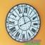 นาฬิกาวินเทจแขวนผนังขนาดใหญ่ สำหรับตกแต่งบ้าน ตกแต่งร้านกาแฟ ตัวอักษรโรมัน รุ่น de PARIS งานเหล็กเก๋ๆ thumbnail 2