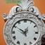นาฬิกาแขวนผนังเรซิ่น สไตล์วินเทจ ประดับกุหลาบ และไวโอลิน thumbnail 2