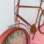 นาฬิกาแขวนผนังเก๋ๆ สไตล์ Vintage รูปทรงจักรยานสีแดง หน้าปัดใหญ่ ทำจากเหล็ก thumbnail 2