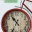 นาฬิกาแขวนผนังเก๋ๆ สไตล์ Vintage รูปทรงจักรยานสีแดง หน้าปัดใหญ่ ทำจากเหล็ก thumbnail 3