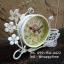 นาฬิกาวินเทจตั้งโต๊ะ รุ่นดอกไม้ตะกร้าขาว thumbnail 3