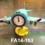 นาฬิกาตั้งโต๊ะเก๋ๆแนววินเทจ รูปเครื่องบินรบสีฟ้า ตัวเลขโรมัน thumbnail 1