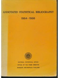 ANNOTATED STATISTICAL BIBLIOGRAPHY 1984-1986
