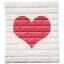 วอลเปเปอร์ 3 มิติ สีขาว-หัวใจ thumbnail 1
