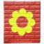 วอลเปเปอร์ 3 มิติ สีแดง cherry-ดอกไม้เขียว thumbnail 1