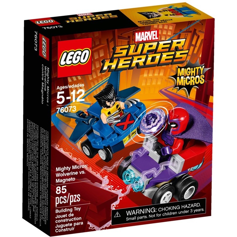 LEGO Super Heroes 76073 Mighty Micros: Wolverine Vs. Magneto