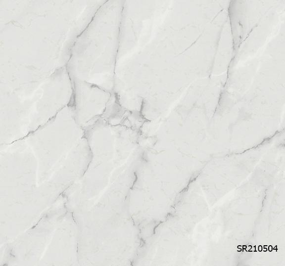 วอลเปเปอร์ลายหินอ่อน สีขาว-เทา SR210504