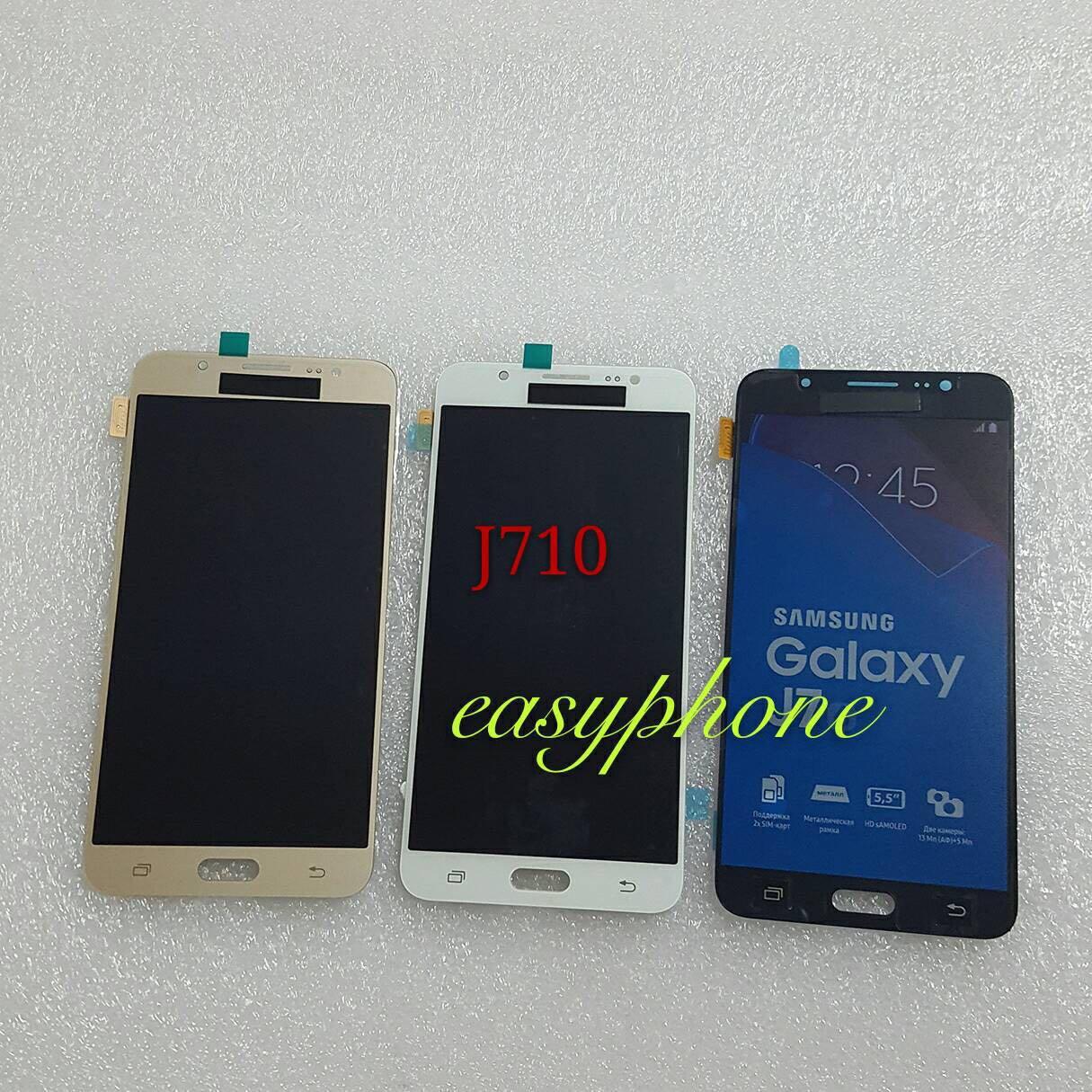 จอพร้อมทัชสกรีน Samsung Galaxy J710 / J7 2016 ( แท้ ) // สีดำ、 สีขาว、 สีทอง