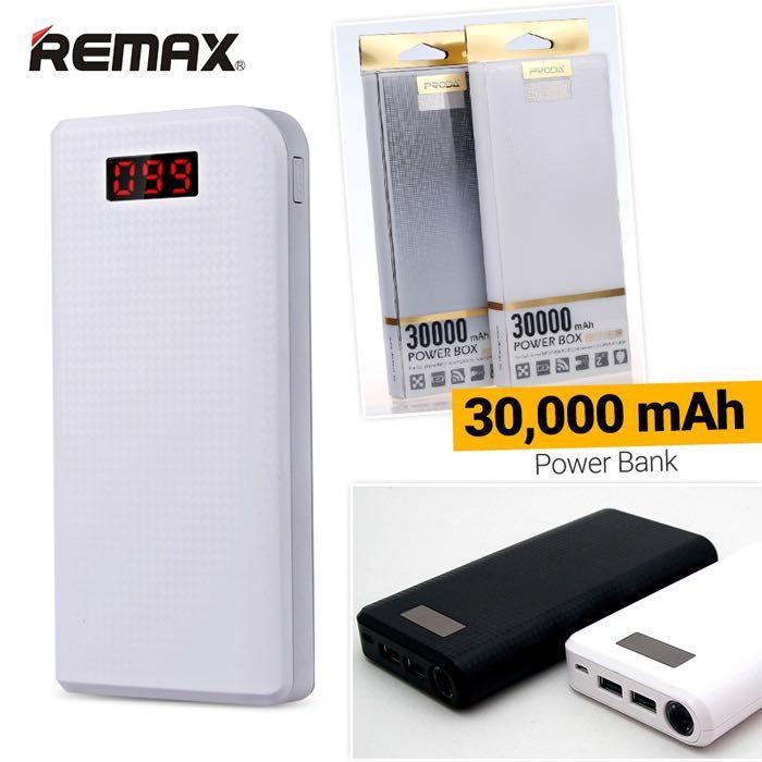 PowerBank PRODA LCD 30000mAh แท้ // มีสี ดำ,ขาว