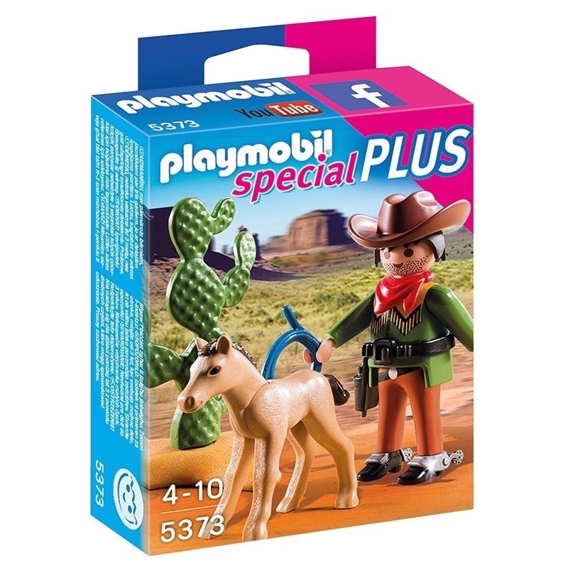 PLAYMOBIL 5373 Cowboy with Foal Playset