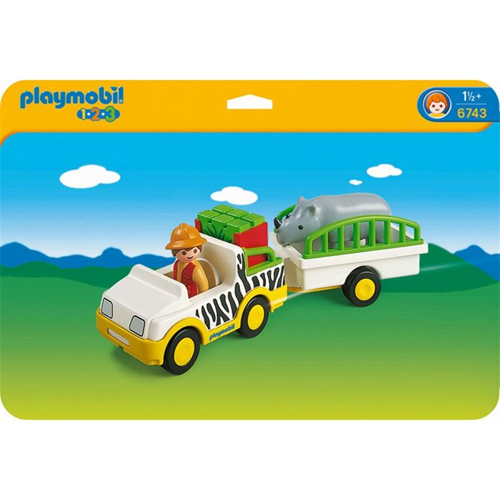 PLAYMOBIL 6743 Safari Truck with Rhino