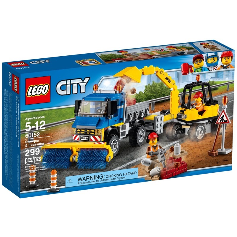 LEGO City 60152 Sweeper & Excavator