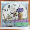 นาฬิกาติดผนังแต่งบ้านแนว Vintage รุ่นแจกันดอกไม้ตั้งโต๊ะ Fleurs de provence