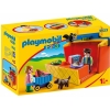 PLAYMOBIL 9123 Take Along Market Stall with Carry Handle and Shape Sorting Function