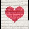 วอลเปเปอร์ 3 มิติ สีขาว-หัวใจ