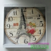 นาฬิกาติดผนังวินเทจ ไซส์กลางขนาด 33 เซนติเมตร รุ่นหอไอเฟล