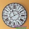 นาฬิกาวินเทจแขวนผนังขนาดใหญ่ สำหรับตกแต่งบ้าน ตกแต่งร้านกาแฟ ตัวอักษรโรมัน รุ่น de PARIS งานเหล็กเก๋ๆ