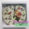 ของตกแต่งบ้าน Vintage นาฬิกาติดผนังรุ่นกรงนก ดอกไม้