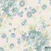 วอลเปเปอร์ลายดอกไม้คลาสสิค สีฟ้า