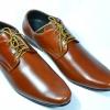 รองเท้าหนัง ชาย-หญิง ทรงหัวแหลม หนังแท้สีแทน มีไซส์ 36-47