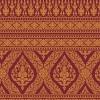วอลเปเปอร์ (บอร์ดเดอร์) ลายไทย - ลายเทพพนม ทอง-แดง BD122-8