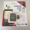 การ์ด Micro SD เมมโมรี่ การ์ด 32GB-Class 10 Kingstons แท้ 100% ลดราคา เหลือ 590 บาท
