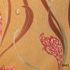 วอลเปเปอร์ลายดอกไม้โมเดิร์น ทอง-แดง