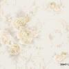 วอลเปเปอร์ลายดอกไม้คลาสสิค สีทอง-ส้ม