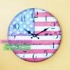 ของแต่งบ้านเก๋ๆ นาฬิกาแขวนวินเทจ รุ่นธงชาติอเมริกา