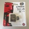 การ์ด Micro SD เมมโมรี่ การ์ด 16GB-Class 4 Kingstons แท้ 100% ลดราคา เหลือ 219 บาท