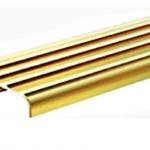 จมูกบันไดทองเหลือง4ร่อง มีขา B40