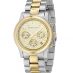 นาฬิกาข้อมือ Michael Kors รุ่น MK5137 Michael Kors Women's MK5137 Runway Two Tone Chronograph Watch