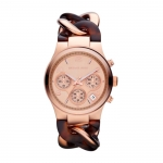 นาฬิกาข้อมือ Michael Kors รุ่น MK4269 Michael Kors Runway Rose Gold-tone Tortoise Twist Chain Link Ladies Watch MK4269