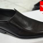 รองเท้าหนังแท้ ทรงหน้ายาว 1967-Black