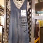 เอี๊ยมยีนส์+เสื้อยืด 2 ชิ้น สกรีนหน้าคน