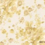 วอลเปเปอร์ลายดอกไม้คลาสสิค สีทอง