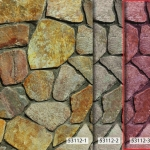 วอลเปเปอร์ลายหินกาบ สีชมพู แดง