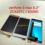 """LCD Zenfone MAX 5.2"""" / ZC520TL / X008D จอชุด มีสี ขาว,ทอง"""