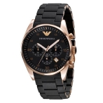 นาฬิกาข้อมือ Emporio Armani รุ่น AR5905 Stainless-Steel Quartz Watch with Black Dial