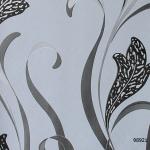 วอลเปเปอร์ลายดอกไม้โมเดิร์น เทา-ดำ