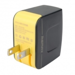 หัวชาร์จ หัวปลั๊ก 2 USB Remax แท้ 3.1A สีดำ ราคา 290 บาท