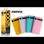 PoweBank REMAX Proda 12000mAh 2USB // มีสี เหลือง,ม่วง,ฟ้า,ชมพู