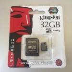 การ์ด Micro SD เมมโมรี่ การ์ด 32GB-Class 4 Kingstons แท้ 100% ลดราคา เหลือ 349 บาท