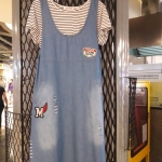 เอี๊ยมยีนส์+เสื้อยืด 2 ชิ้น ปัก Vintage Team