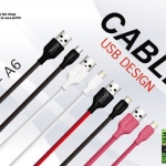 สาย USB (NP-A6) สี ขาว,ดำ,ชมพู,เทา,แดง // มี I Phone / Samsung Micro / Type-C