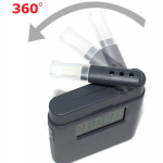 เครื่องเป่าแอลกอฮอลล์แบบพกพาแบบหมุน 360