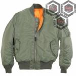 เสื้อแจ็คเก็ตนักบิน MA-1 เขียว
