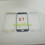 แผ่นกระจกหน้าจอ Galaxy S7 สีขาว//สีดำ//สีทอง