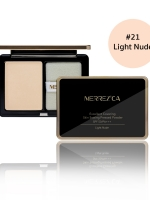 Merrez'ca Excellent Covering Skin Setting Pressed Powder #21 Light Nude